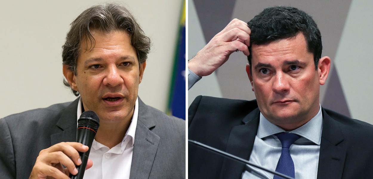 Fernando Haddad e Sérgio Moro