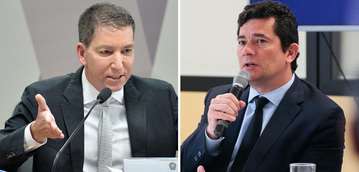 Glenn Greenwald e Sérgio Moro