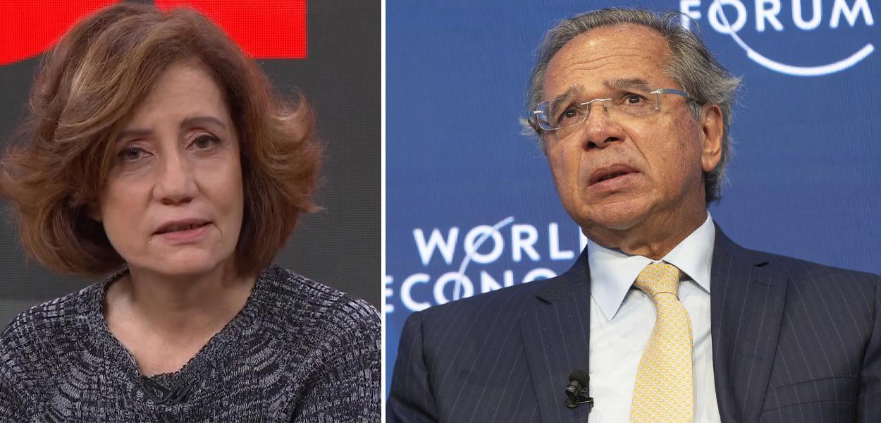 Miriam Leitão e Paulo Guedes