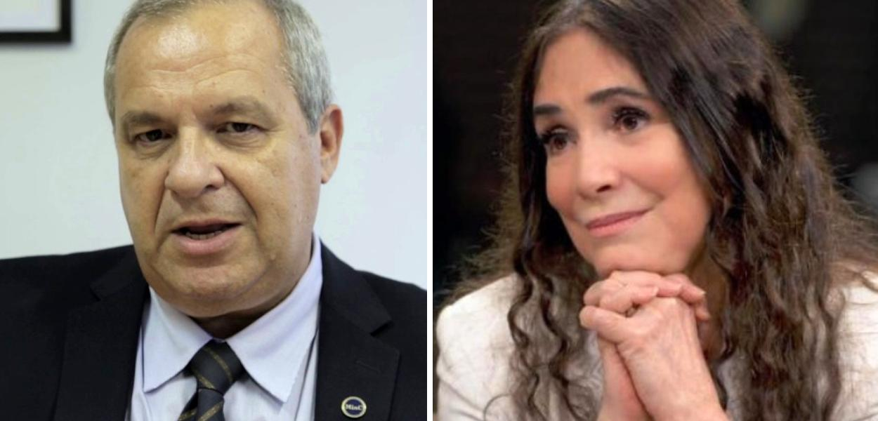 José Paulo Soares Martins e Regina Duarte