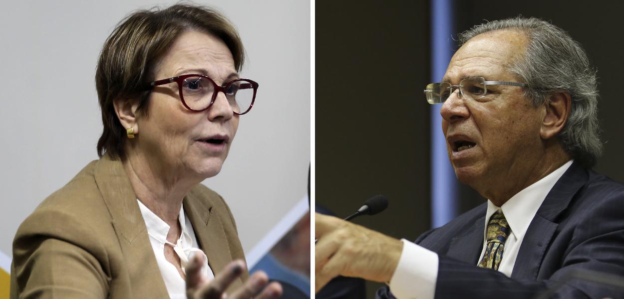 Tereza Cristina e Paulo Guedes