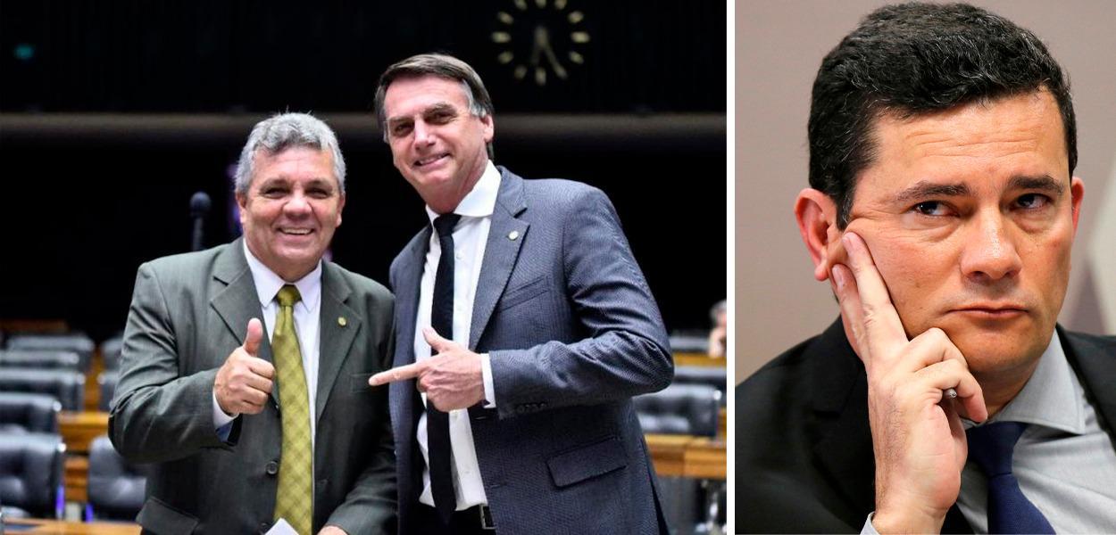 Alberto Fraga, Jair Bolsonaro e Sergio Moro