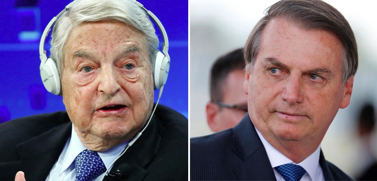 George Soros e Jair Bolsonaro