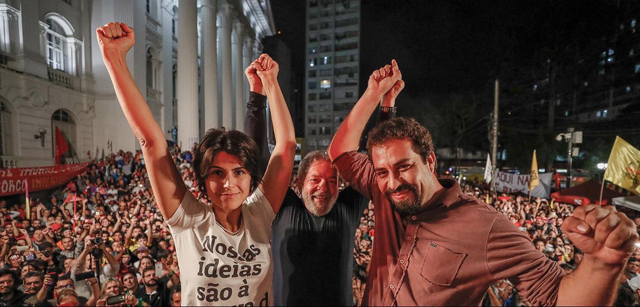 Manuela d'Ávila, Lula e Guilherme Boulos