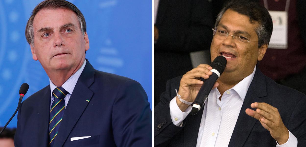 Jair Bolsonaro e Flávio Dino