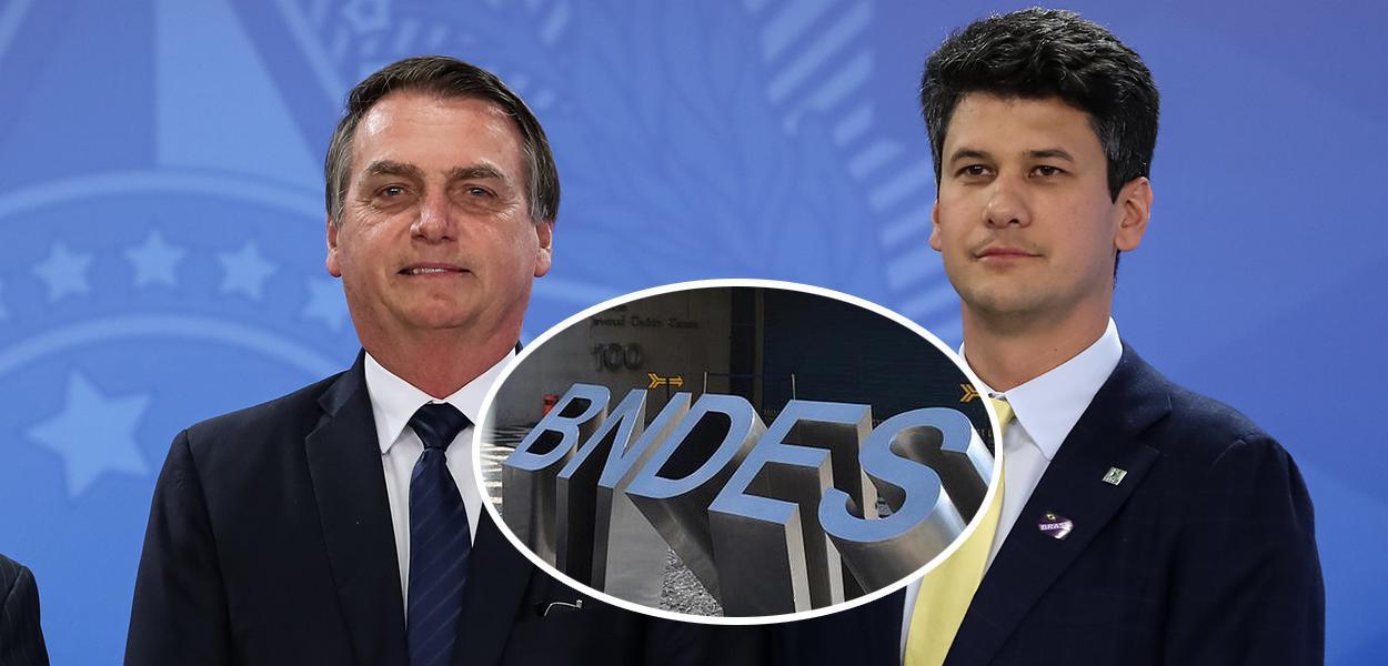 Jair Bolsonaro e Gustavo Montezano