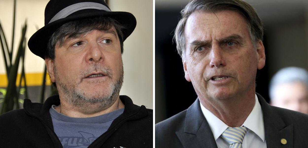 Marcelo Rubens Paiva e Jair Bolsonaro