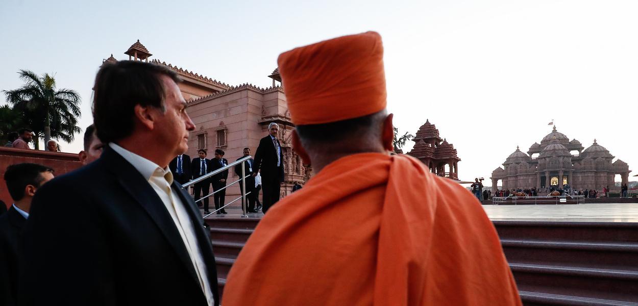 Bolsonaro em viagem à Índia