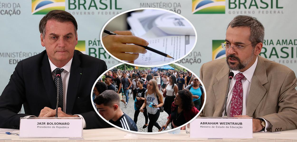 (Brasília - DF, 25/04/2019) Presidente da República, Jair Bolsonaro durante Reunião com Abraham Weintraub, Ministro de Estado da Educação e equipe. Foto: Marcos Corrêa/PR