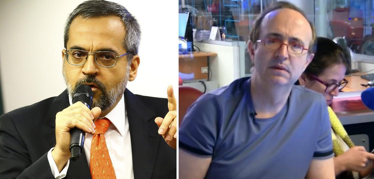 Abraham Weintraub e Reinaldo Azevedo