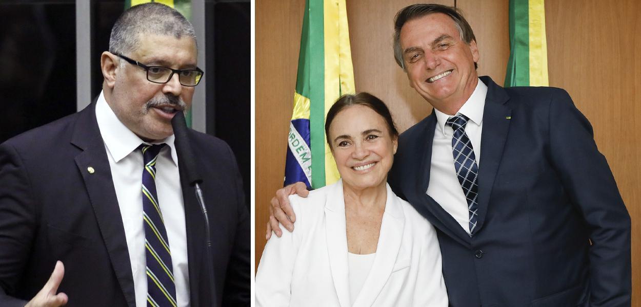 Alexandre Frota, Regina Duarte e Jair Bolsonaro