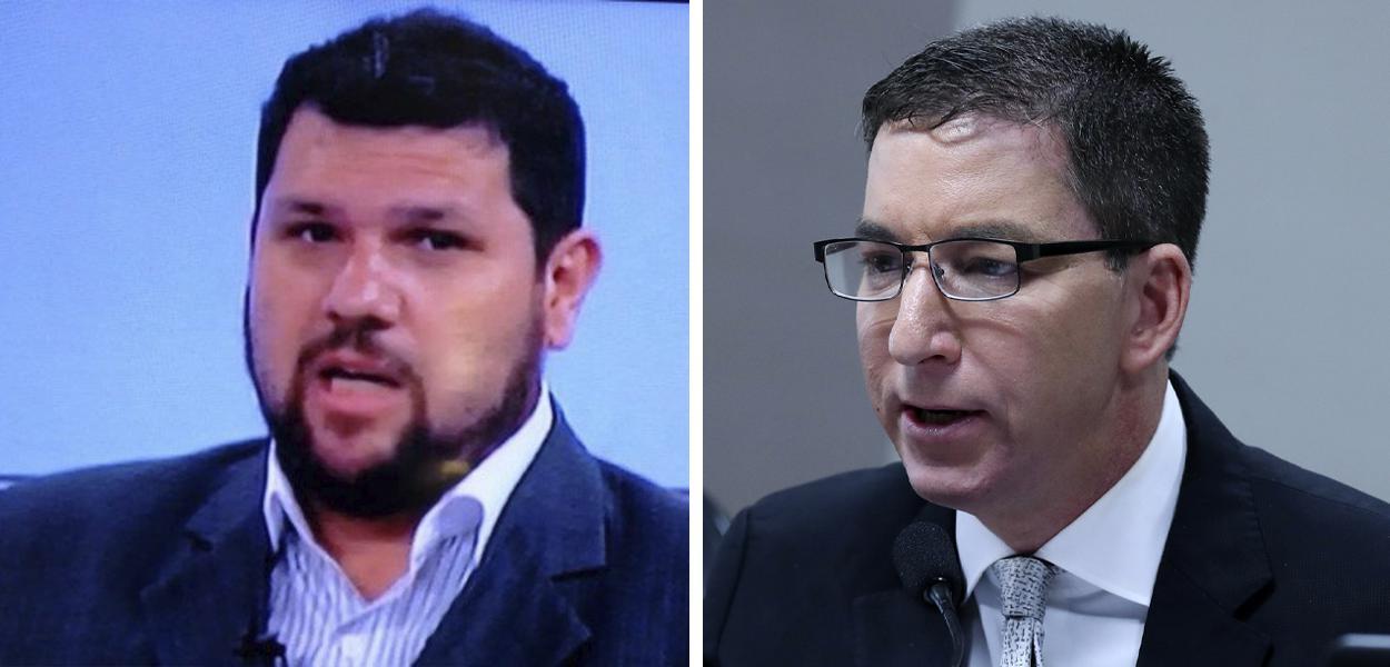 Oswaldo Eustáquio e Glenn Greenwald