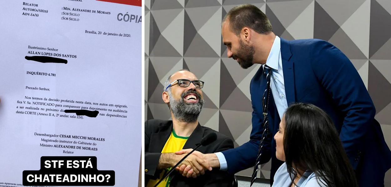Allan dos Santos e Eduardo Bolsonaro