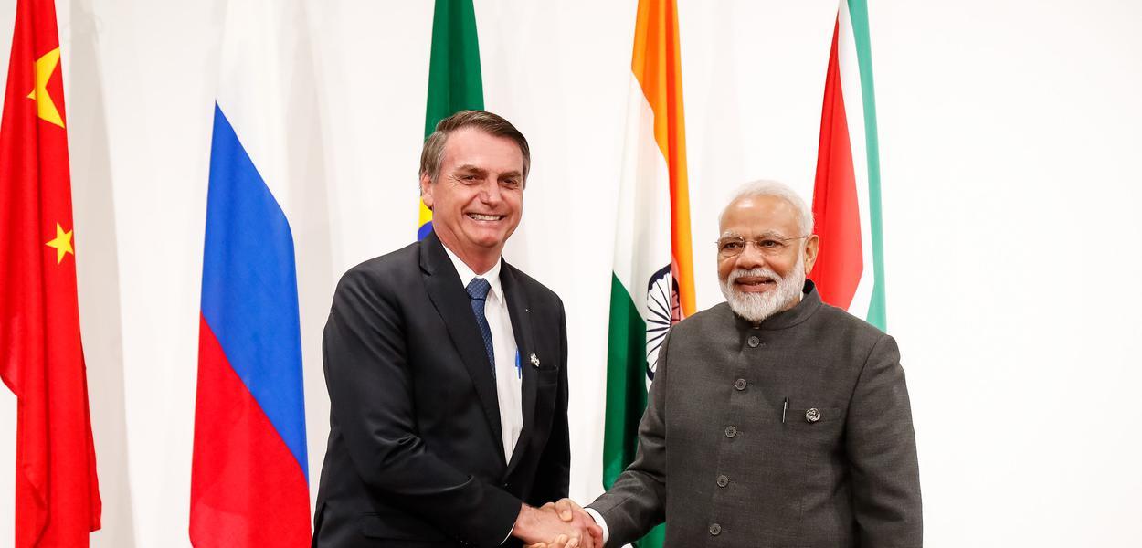 Bolsonaro, durante recepção ao Primeiro-Ministro da República da Índia, senhor Narenda Modi