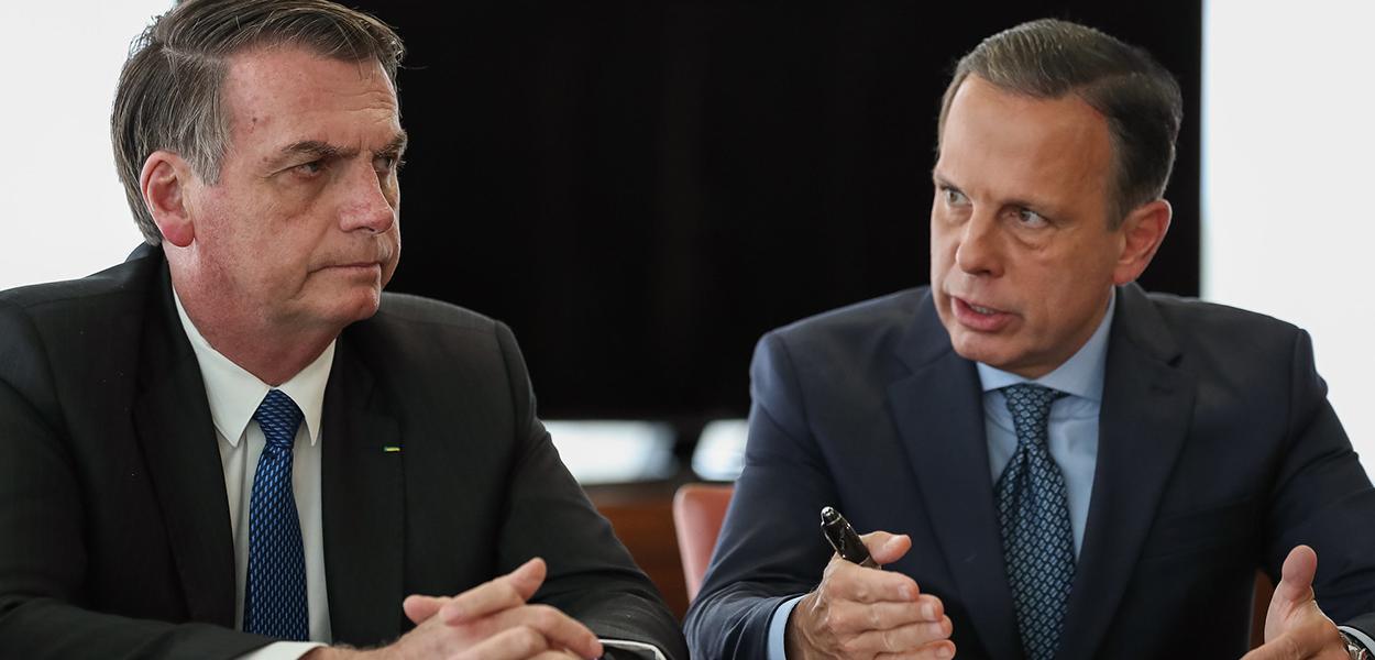 Jair Bolsonaro e João Doria