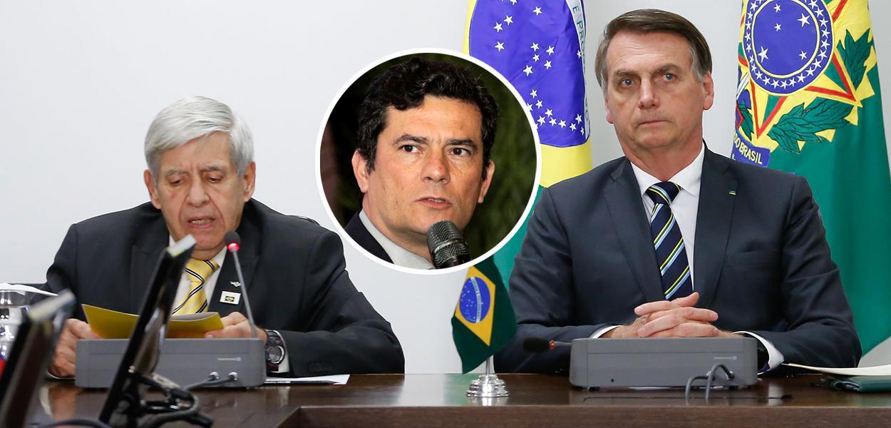 General Augusto Heleno, Sérgio Moro e Jair Bolsonaro