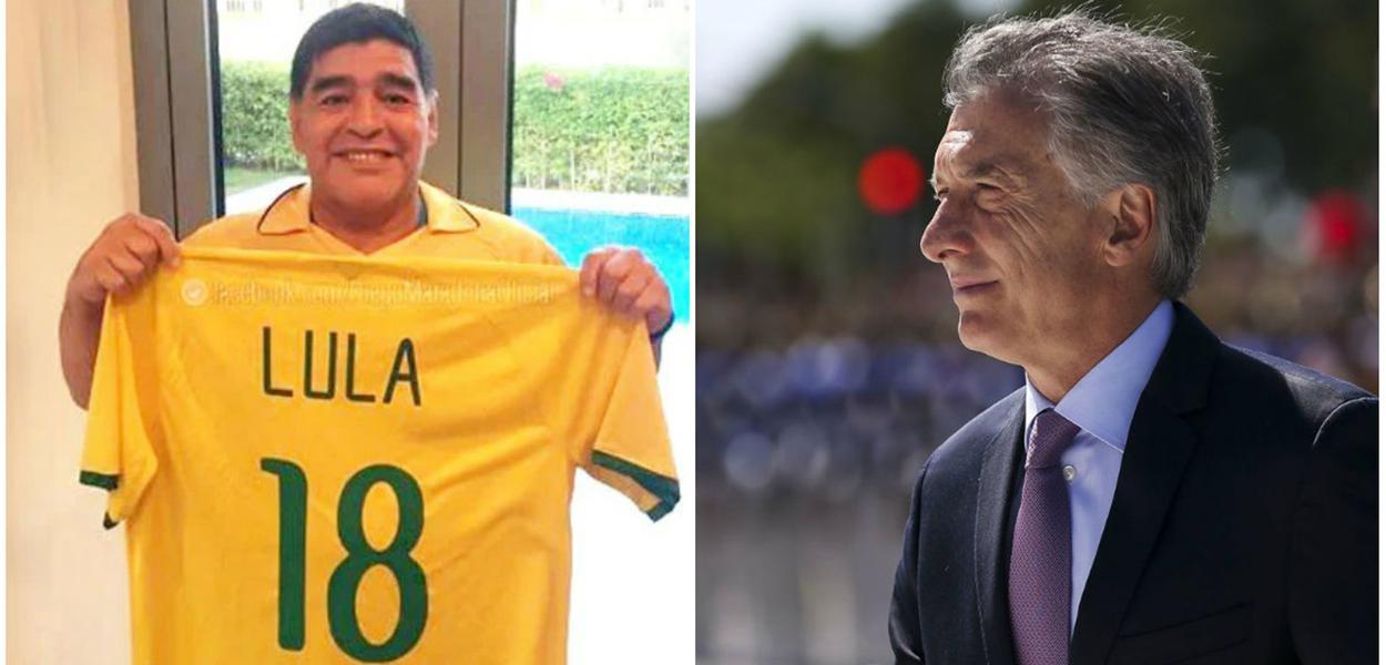 Maradona e Maurício Macri