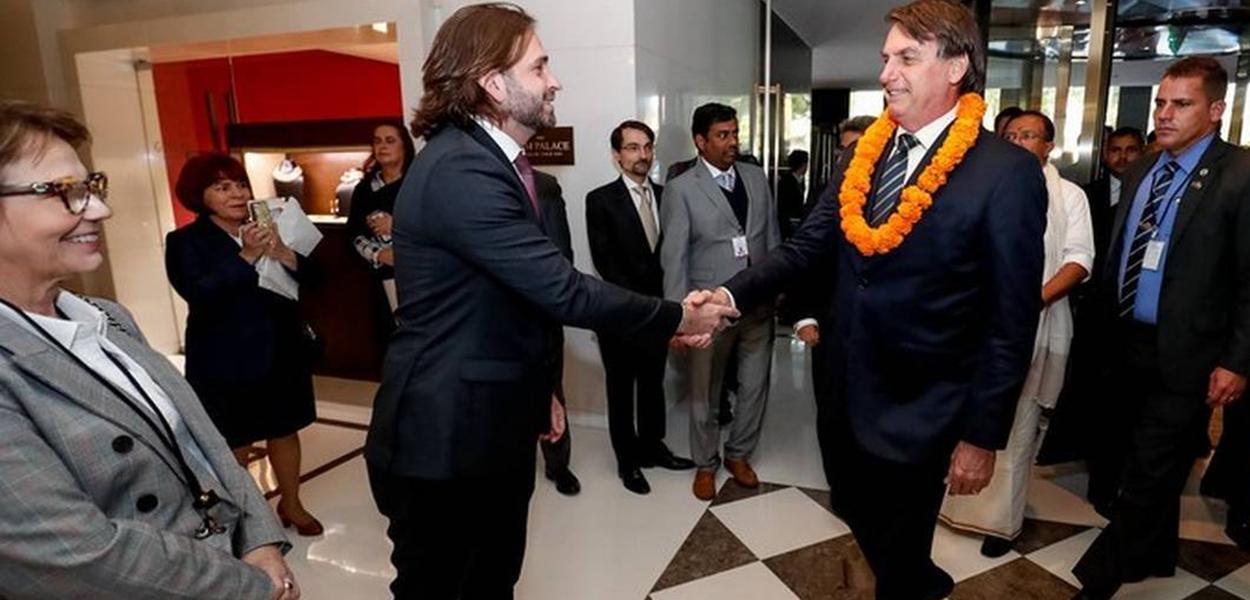 Vicente Santini e Jair Bolsonaro.