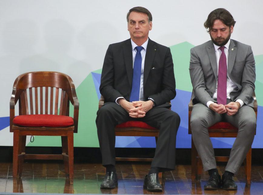 Bolsonaro e Santini