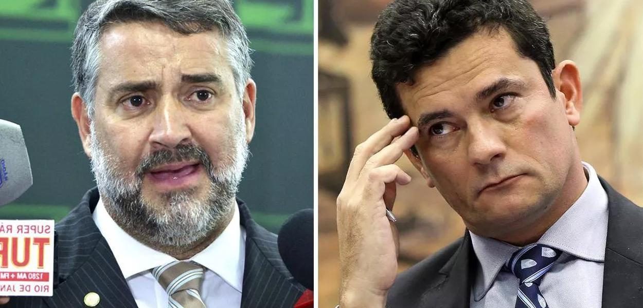 Deputado Paulo Pimenta e ministro Sergio Moro.
