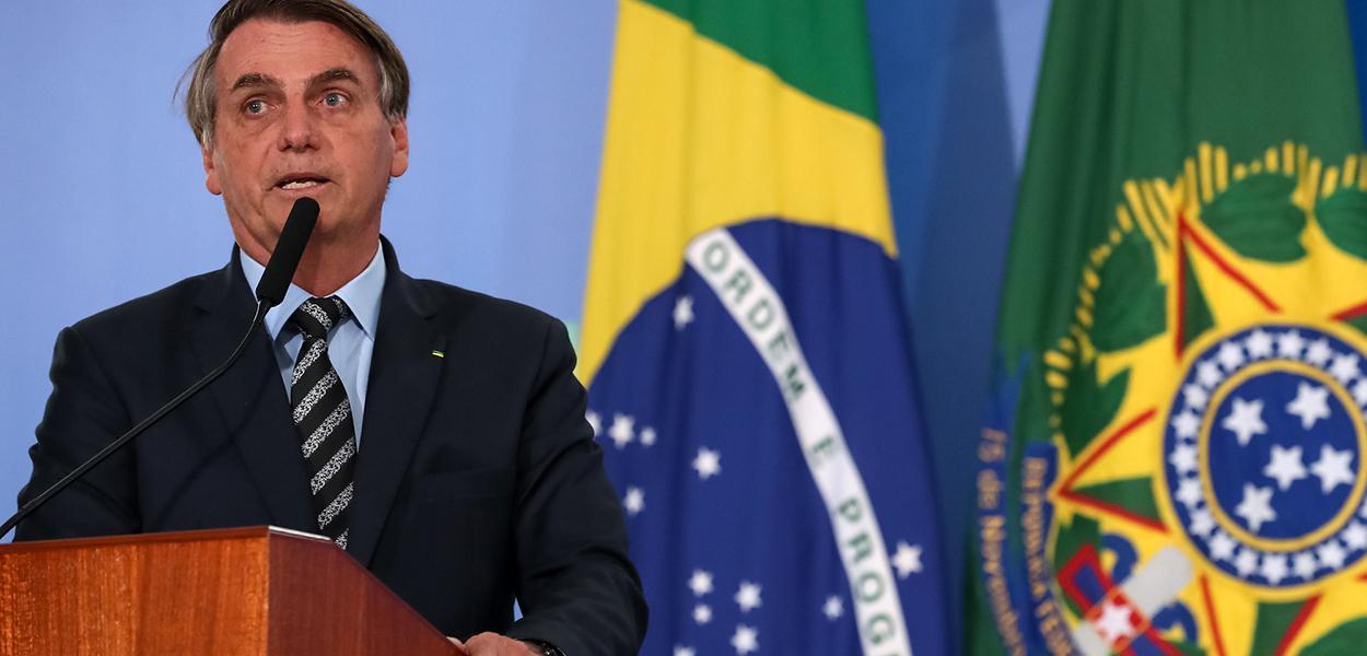 Palavras do Presidente da República, Jair Bolsonaro.