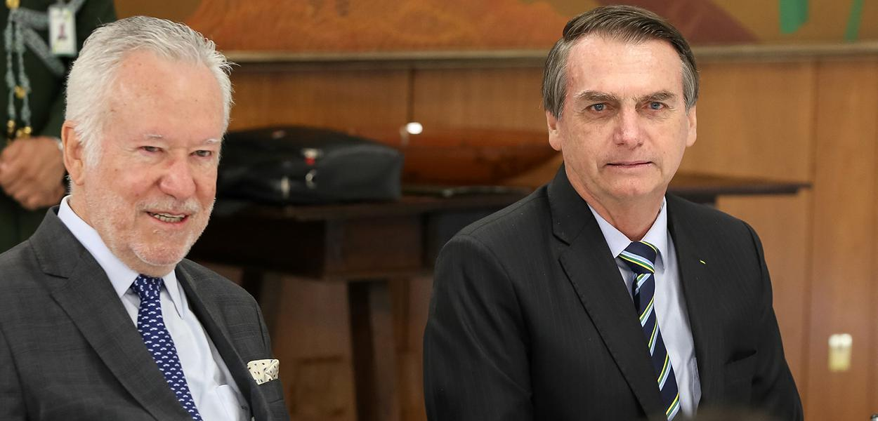 Alexandre Garcia e Jair Bolsonaro