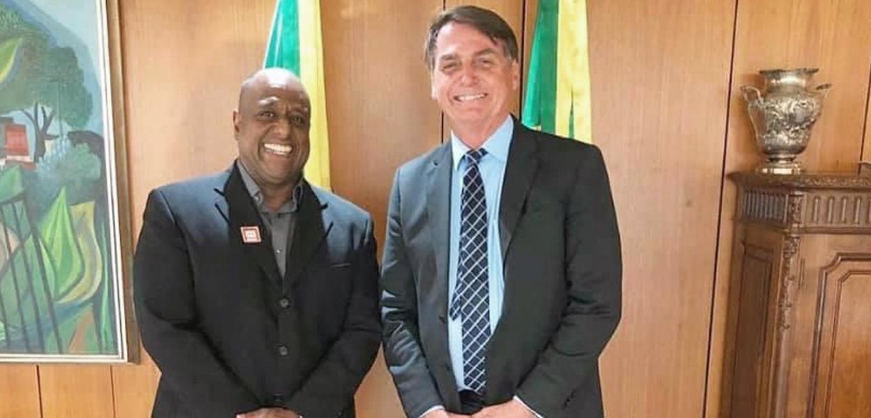 Marcello Magalhães, novo diretor da EGLO, e Jair Bolsonaro