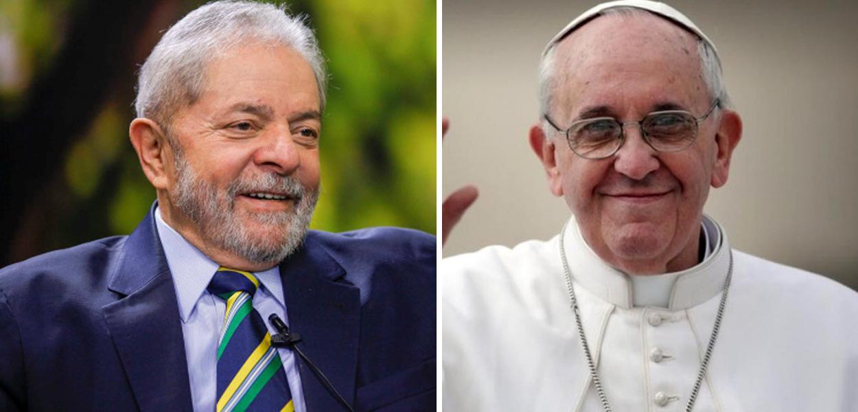 Ex-presidente Lula e Papa Francisco