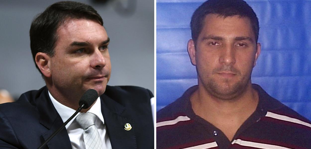 Flávio Bolsonaro e Adriano Mendonça da Nóbrega