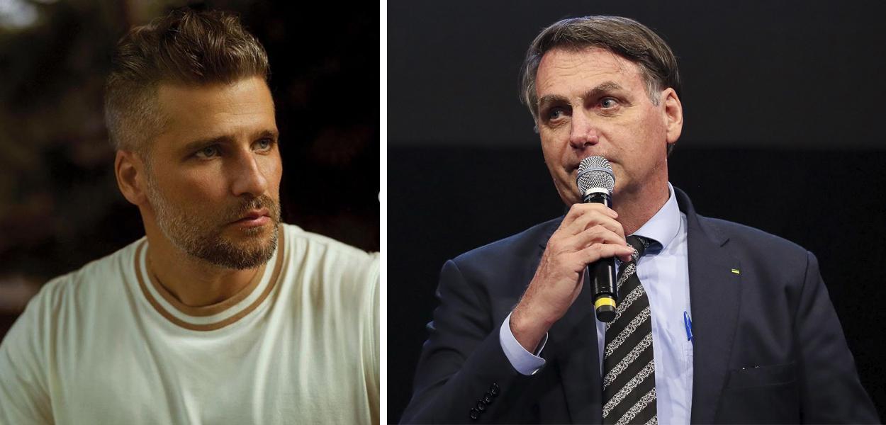 Bruno Gagliasso e Jair Bolsonaro