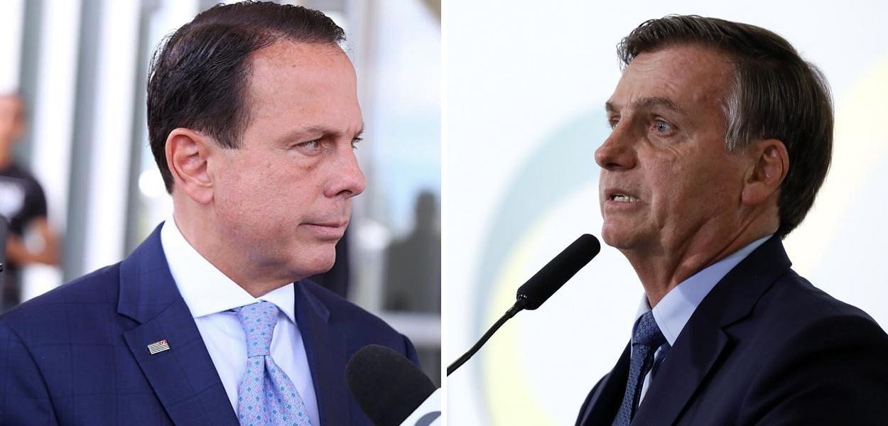 João Doria e Jair Bolsonaro