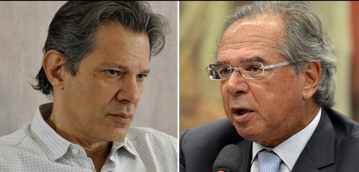 Fernando Haddad questionou do que Guedes chamaria alguém com o perfil de Jair Bolsonaro.