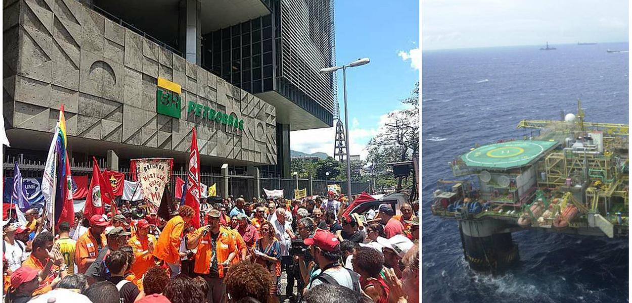 Petroleiro em greve recebem solidariedade internacional