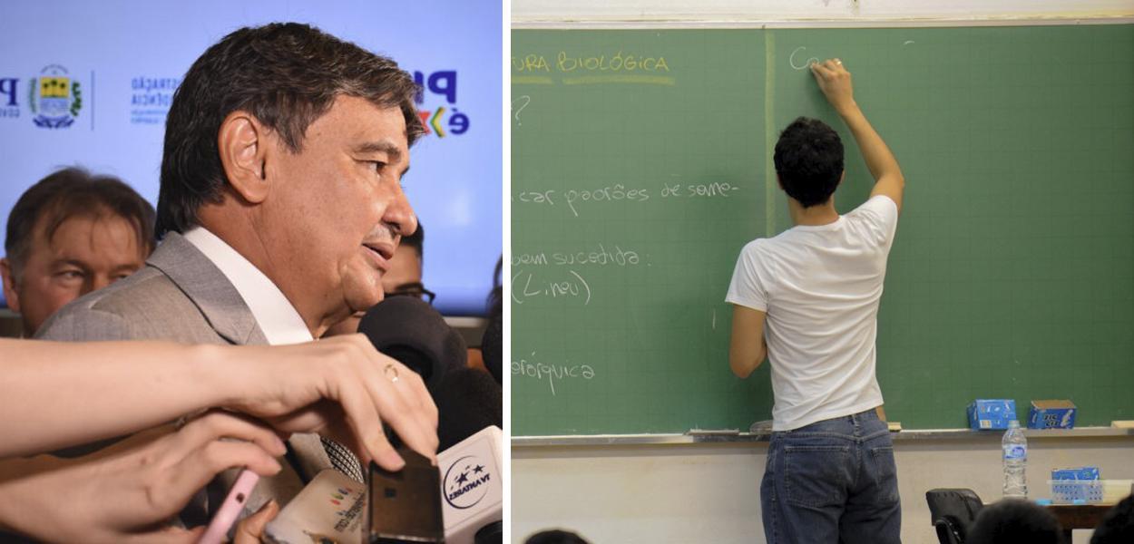 Wellington Dias; professor em sala de aula