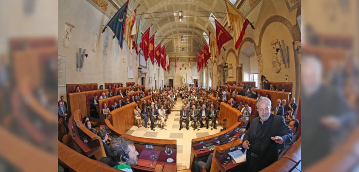 Lula na Prefeitura de Roma