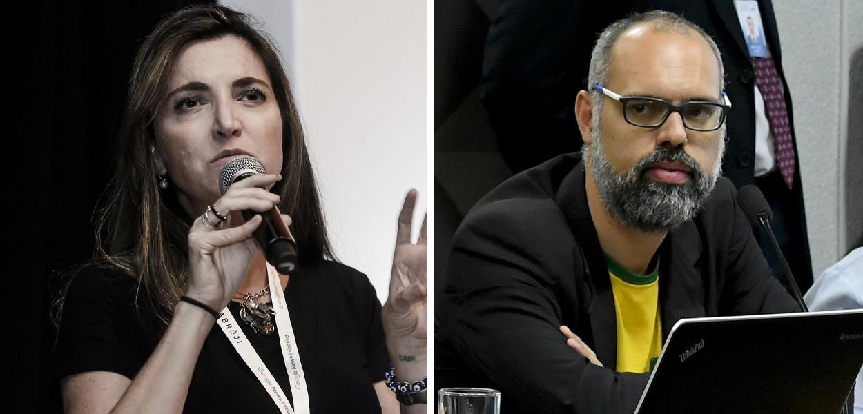 Patricia Campos Mello e Allan dos Santos