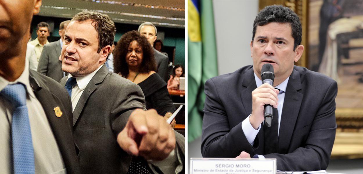Glauber Braga e Sergio Moro