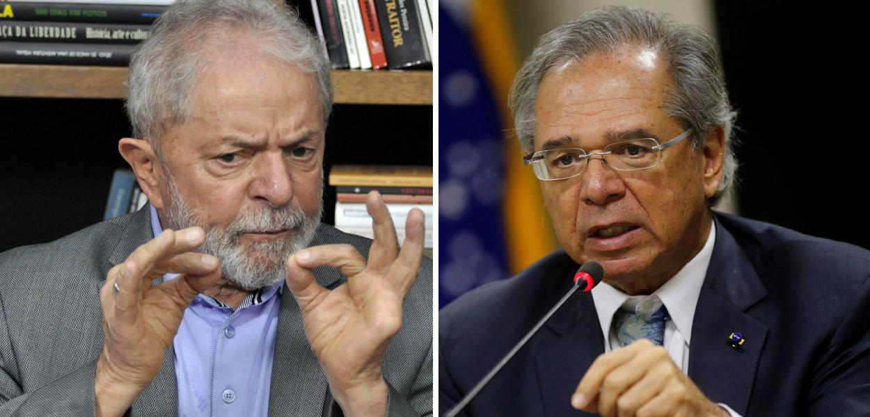 Lula e Paulo Guedes