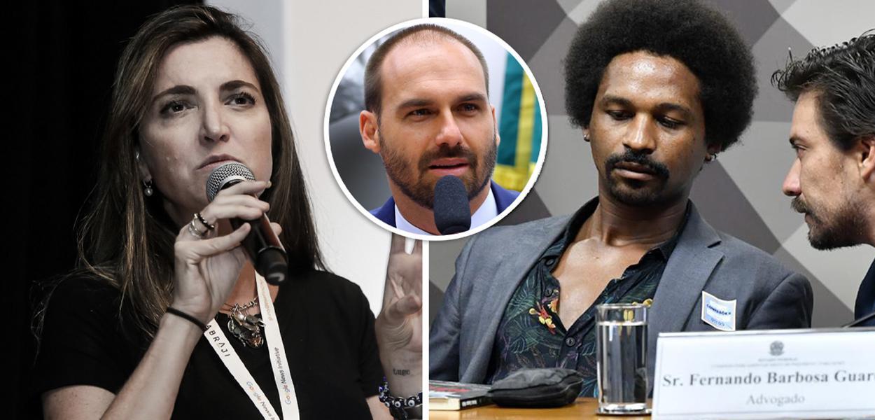 Patrícia Campos Mello, Eduardo Bolsonaro e Hans River