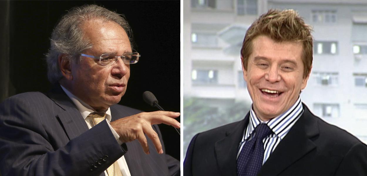 Paulo Guedes e Miguel Falabella no personagem Caco Antibes