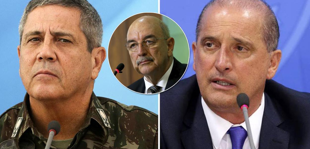 General Braga Netto, Osmar Terra e Onyx Lorenzoni