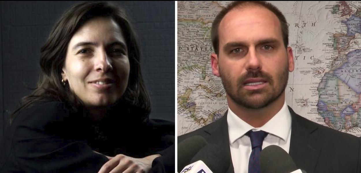 Mônica Bergamo responde Eduardo Bolsonaro.