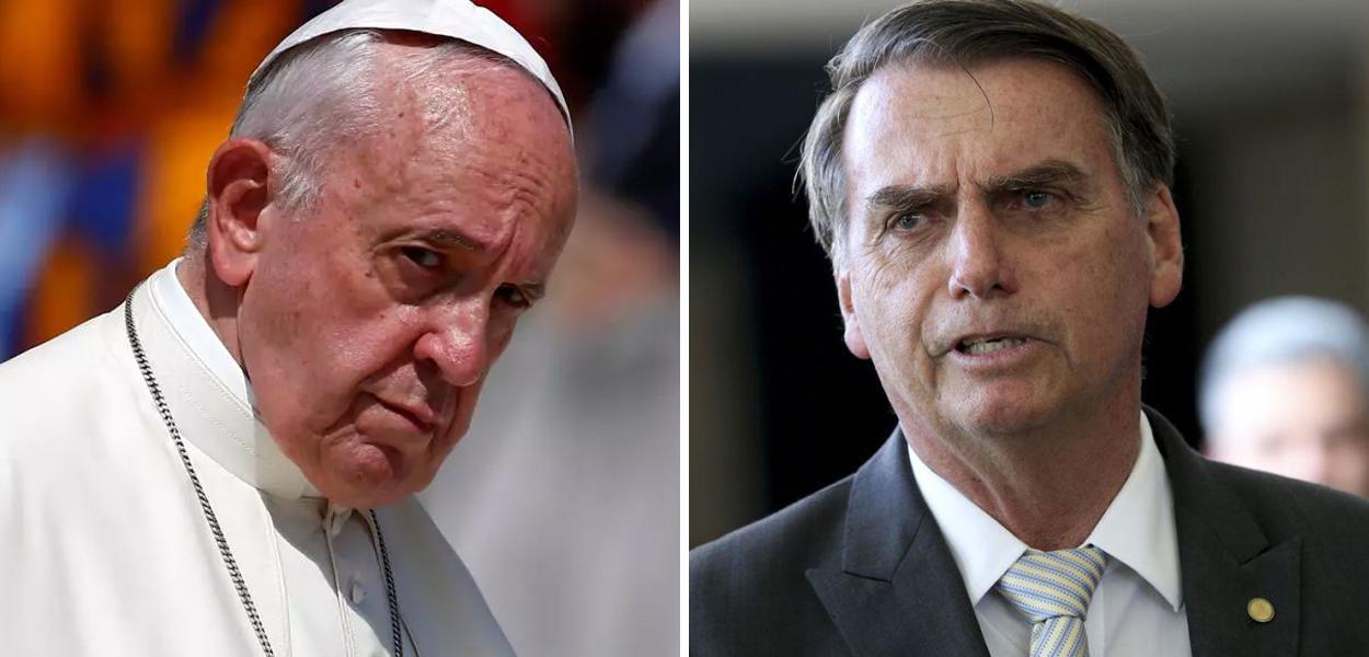 Papa Francisco e Jair Bolsonaro
