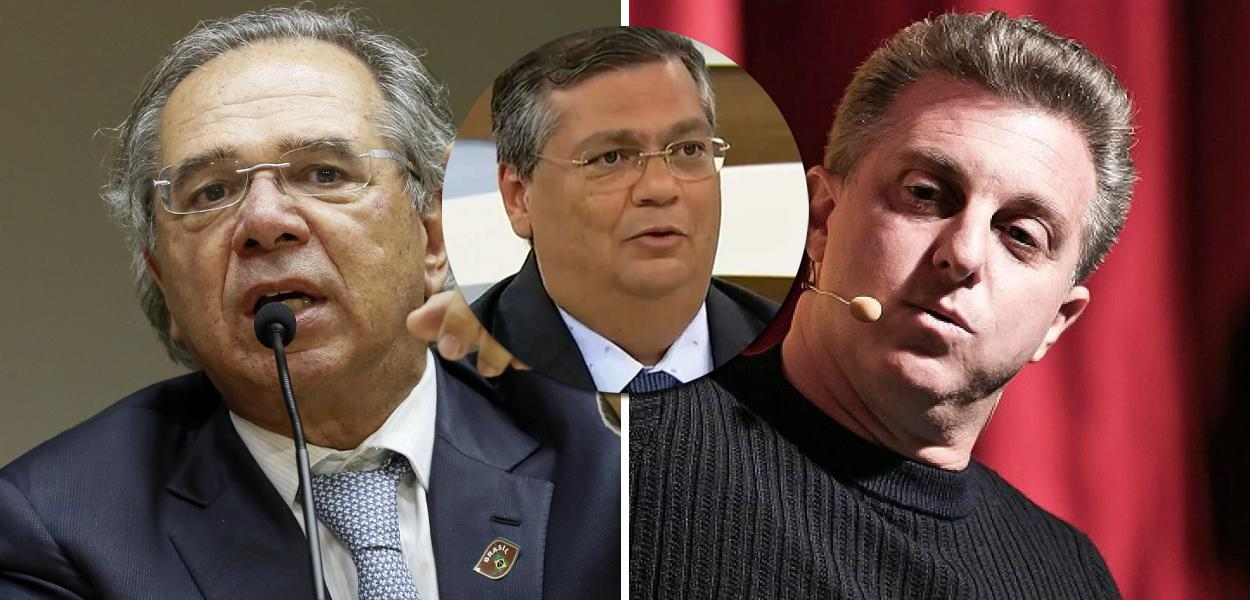Huck, Guedes, Dino