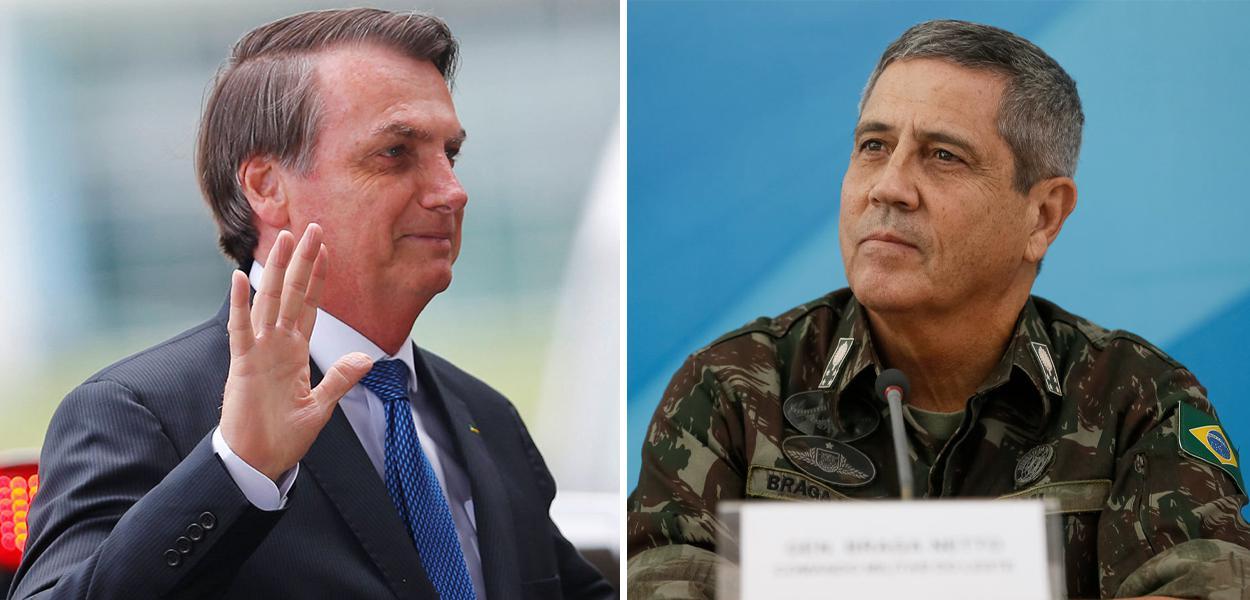 Jair Bolsonaro e General Braga Netto