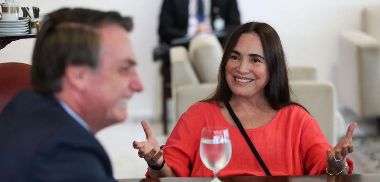 Bolsonaro e Regina Duarte