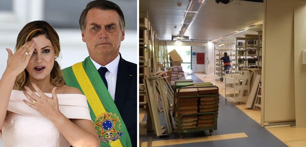 Bolsonaro desmonta biblioteca do Planalto.