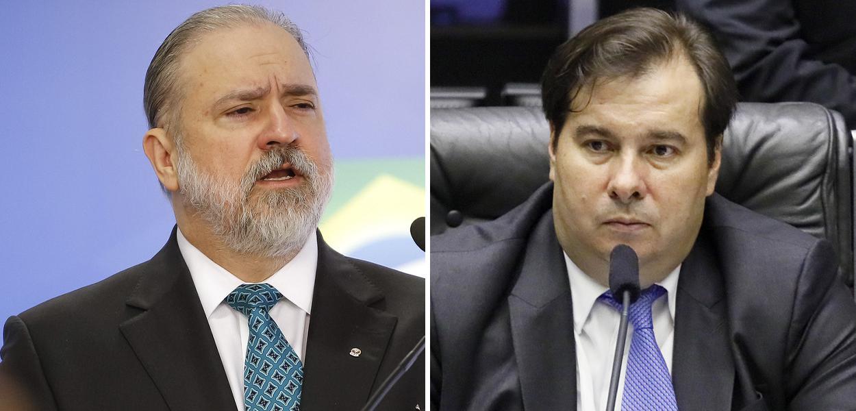 Augusto Aras e Rodrigo Maia