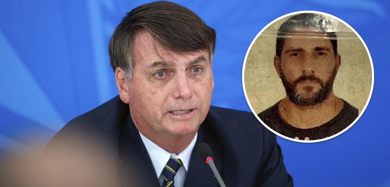 Jair Bolsonaro e Adriano Magalhães da Nóbrega