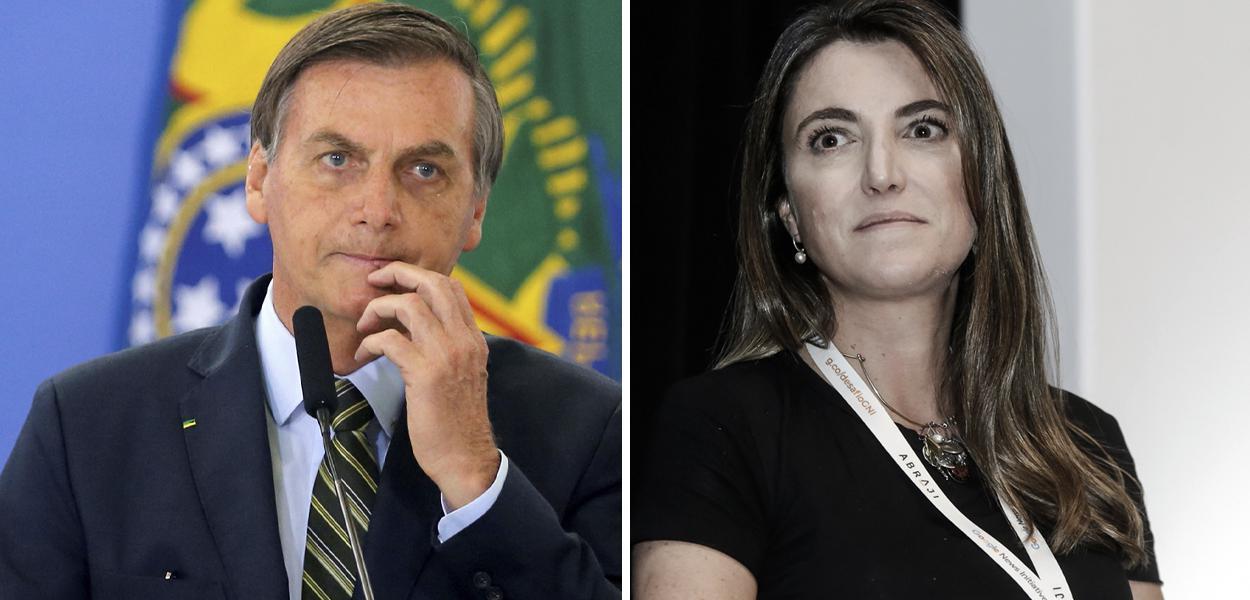 Jair Bolsonaro e Patricia Campos Mello